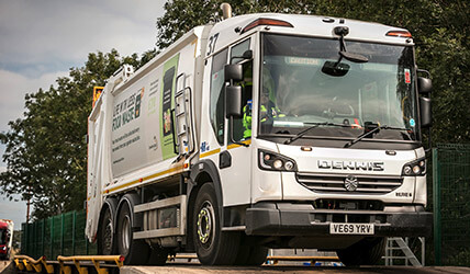 Household waste collection lorry
