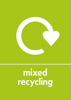 Mixed recycling logo