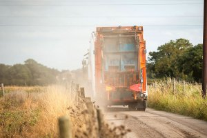 Household waste lorry